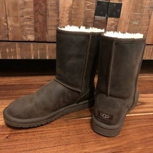 Dark brown Ugg boots in size 8